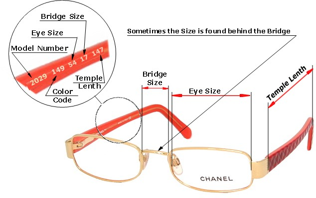 Eyeglass Frame Sizing Chart : FAQ